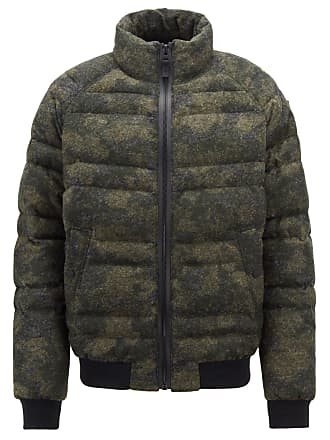 BOSS Hugo Boss Down jacket in felted camouflage fabric 38R Dark Green