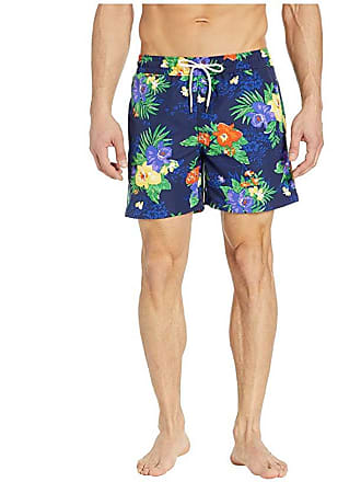 1ceccbb856 Polo Ralph Lauren Traveler Swim Trunks (Carribean Floral) Mens Swimwear