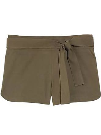 0e81263628fb Gucci Gucci Woman Bamboo-embellished Stretch-cotton Shorts Army Green Size  36