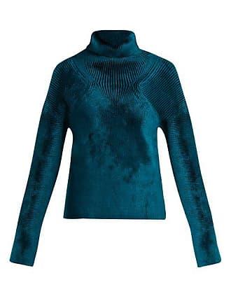 2a62faaf0d Haider Ackermann Aralia Chenille Roll Neck Sweater - Womens - Blue