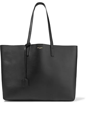 Saint Laurent Shopper Large Textured-leather Tote - Black