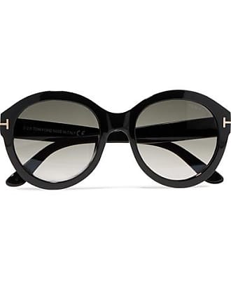 Tom Ford Kelly Round-frame Acetate Sunglasses - Black