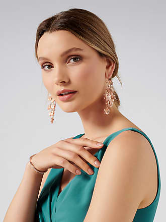 Forever New Blossom Flower Chandelier Earrings - Coated Rose Peach - 00