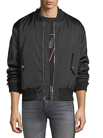 7 For All Mankind Mens Zip-Front Military-Style Bomber Jacket