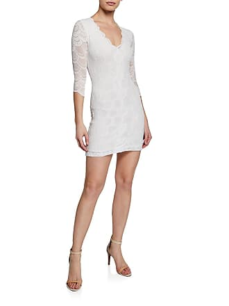 bdad3613ead662 Nightcap Victorian V-Neck 3 4-Sleeve Lace Mini Dress
