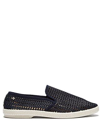 Rivieras Shoes Nice Matin Woven Loafers - Mens - Blue