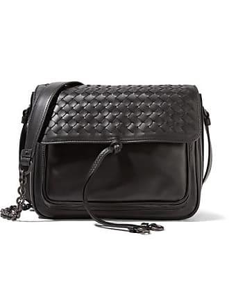963ea61e30cc Bottega Veneta Saddle Small Intrecciato Leather Shoulder Bag - Black