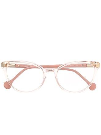 Salvatore Ferragamo Armação de óculos transparente - Rosa