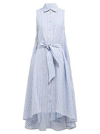 Palmer//harding Sedona Striped Linen Shirtdress - Womens - Blue Stripe