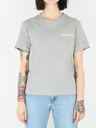Han Kjobenhavn Lässiges T-Shirt Grey Melange Logo - S