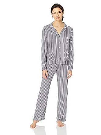 bf5e57c39b34 Splendid Womens Button Up Long Sleeve Top and Bottom Classic Pajama Set Pj
