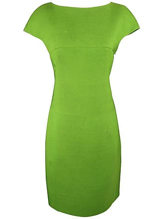 634f66a927 Akris Size 8 Green Silk Canvas High Neck Pleated Back Cocktail Dress
