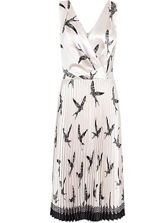 bf2307f9d9 Reiss Peyton - Bird Printed Knife Pleat Midi Dress in Multi