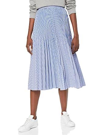 7187b618 Tommy Hilfiger Womens Daisy MIDI Skirt, Blau (Ithaca Pleat STP/Deep  Ultramarine 518