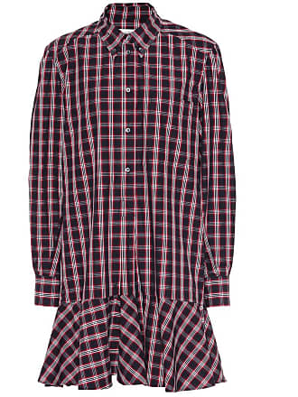 Isabel Marant Ondria plaid cotton shirt dress