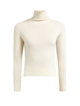 577d46bb6 Ryan Roche High Neck Ribbed Knit Cashmere Sweater - Womens - White