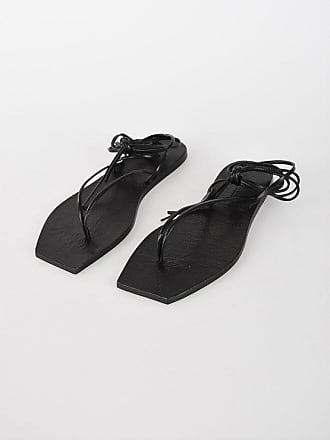Rick Owens Leather TANGLE THONG II Sandals size 40