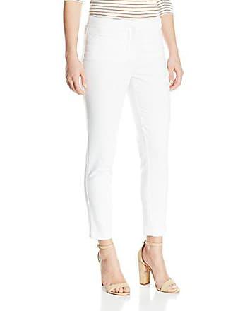 Ellen Tracy Womens Petite Size Welt Pocket Slim Pant, White, 6P