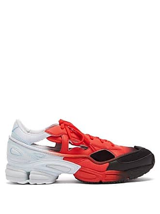 Raf Simons Replicant Ozweego Mesh And Leather Trainers - Mens - Red Multi