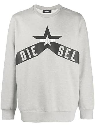Diesel printed cotton-fleece sweatshirt - Grey