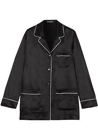 Dolce & Gabbana Dolce & Gabbana Woman Silk-satin Shirt Black Size 46