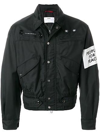 OAMC cropped shirt jacket - Black