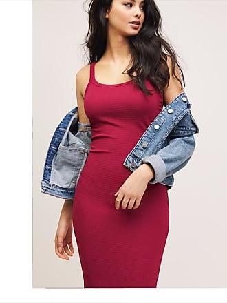 Dynamite Skyler Scoop Neck Dress Anemone Red