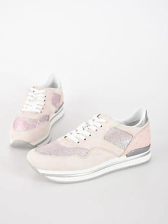 66c957cd02881 Hogan Sneakers H222 in Suede con Inserti Glitter taglia 35