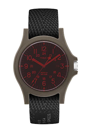 Timex Watch Mens Acadia 40MM Fabric Strap Green/other/black Item Tw2R75300Lg