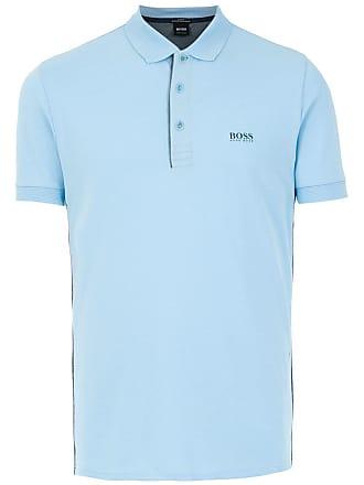 HUGO BOSS Camisa polo com bordado - Azul