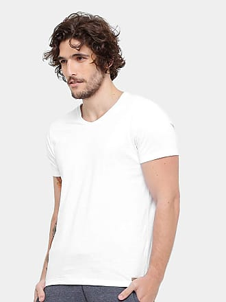 KOHMAR Camiseta Kohmar Gola V Básica Masculina - Branco - G