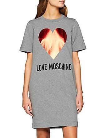 Love Moschino Short Sleeve Dress with Hearth   Logo Prints 10bdba294c6