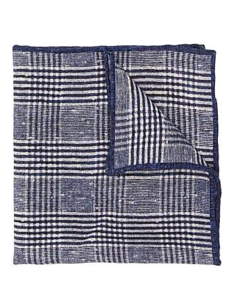 Brunello Cucinelli checked scarf - Azul