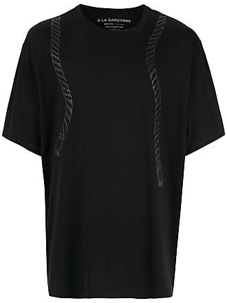 À La Garçonne Camiseta oversized Cordas À La Garçonne + Hering - Preto