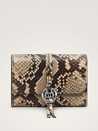 MASSIMO DUTTI LEATHER WALLET WITH FAUX SNAKESKIN FINISH