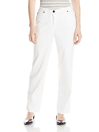 Ruby Rd. Womens Petite Classic 5-Pocket Fly Front Denim Jean, White, 14