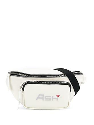 Ash logo print belt bag - White