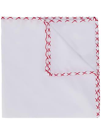 Eleventy cross-stitch scarf - Branco