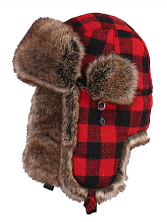 7c2c2df448308 Insun Unisex Winter Ski Aviator Hats Pilot Hunting Trapper Caps Plaid Red L