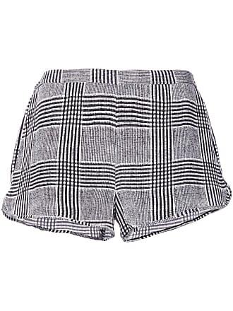 Fleur du Mal check short shorts - Black