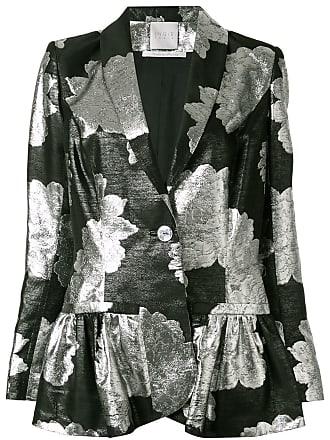 Ingie Paris floral metallic blazer - Preto