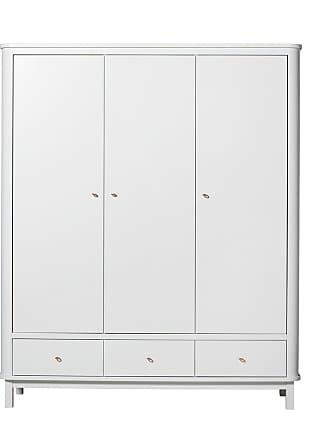 Oliver Furniture Garderob 3 dörrar wood vit/ vit, oliver furniture