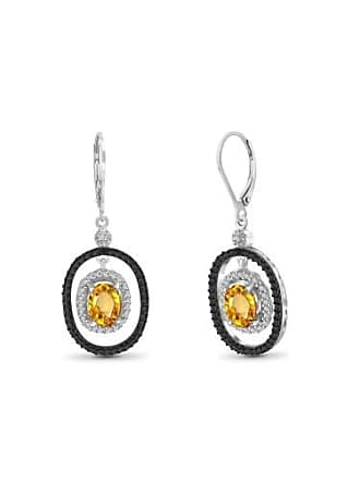 JewelersClub JewelersClub 2.22 Carat Citrine Gemstone and Accent White Diamond Earring