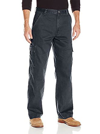 Wrangler Authentics Mens Classic Twill Relaxed Fit Cargo Pant, Navy Ripstop, 40 x 34