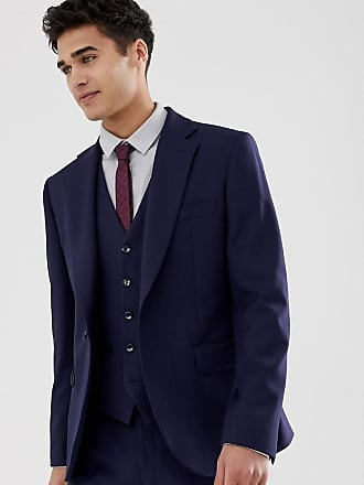 Moss Bros. Moss London muscle fit suit jacket in navy