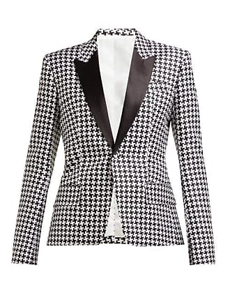 Haider Ackermann Houndstooth Poplin Single Breasted Blazer - Womens - Black White