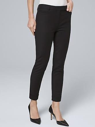 White House Black Market Womens Modern-Fit Slim Crop Pants by White House Black Market, Black, Size 16 - Regular