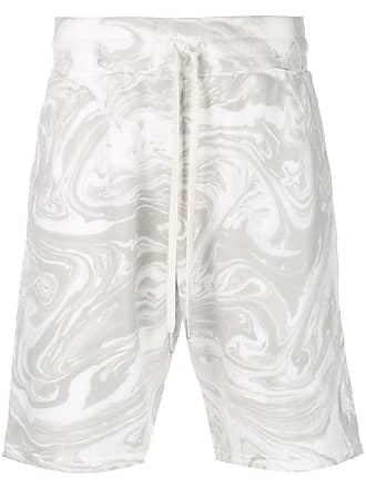 John Elliott + Co Short esportivo com efeito marmorizado - Branco