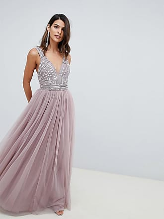 Asos maxi dress in tulle with embellished bodice - Pink