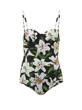 6c78e72bf8ca7 Dolce & Gabbana Lily Print Balconette Swimsuit - Womens - Black Print